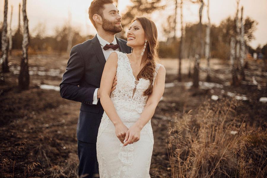 Wiola i Mateusz - sesja w szklarni | sesja w lesie