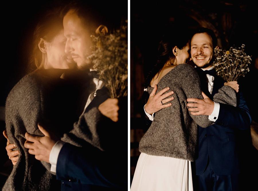 intymna sesja w dniu ślubu