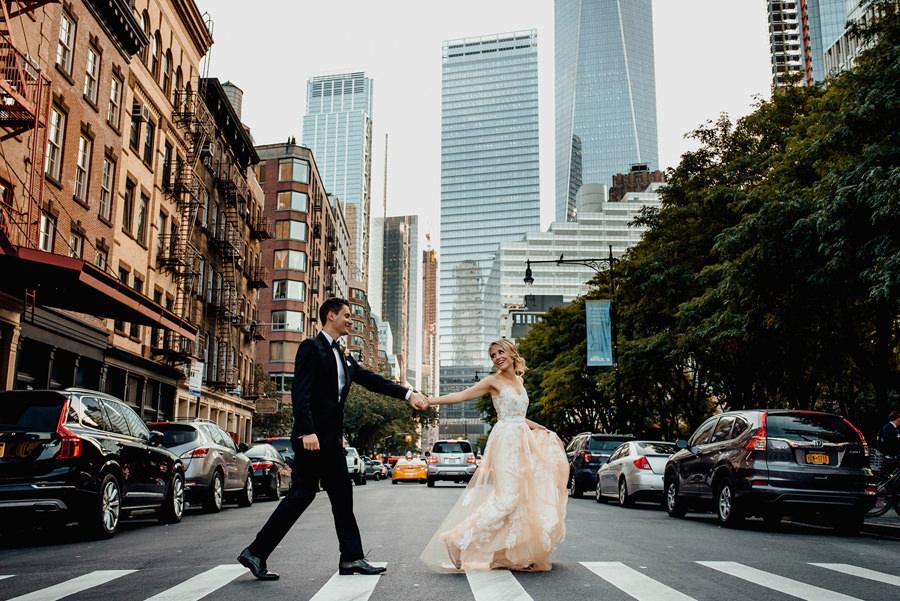 Zdjęcie ślubne wykonane w Nowym Jorku