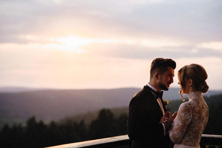 sesja ślubna przy hotelu Arłamów