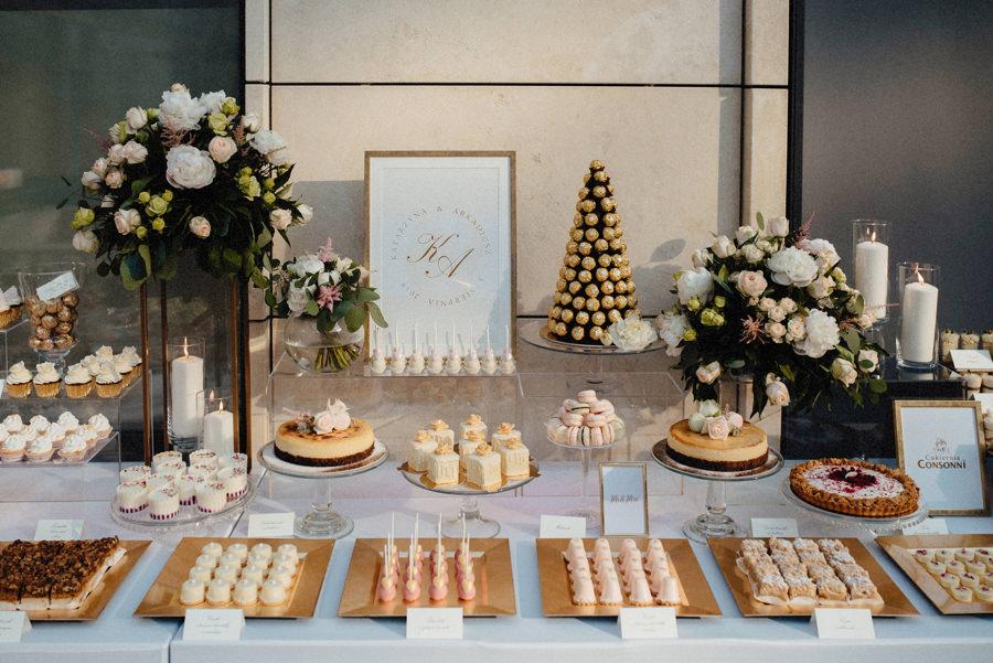słodki stół w hotelu Arłamów